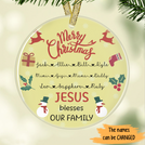 Merry Christmas Jesus blesses our family