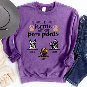 A House is not home without pawprints Personalized T-shirt Mug for Dog lover APDM105