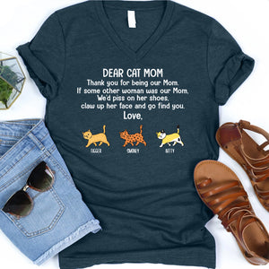 Dear Cat Mom Thank you Personalized T-shirt mug for Cat lover APCM006
