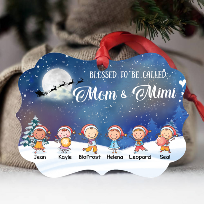 Blessed to be called Mama & Mimi - Christmas Kids - Benelux Ornament - ONFM006