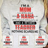 I'm a Mom A Grandma Personalized titles names and jobs T-shirt Gift for Mom & Grandma APGM017