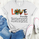 Love Grandma life - Mom Life Hippie Peace Sign Personalized T-shirt APGM001