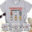 Quarantined with my cat Personalized T-shirt Mug for Cat lovers APCM001