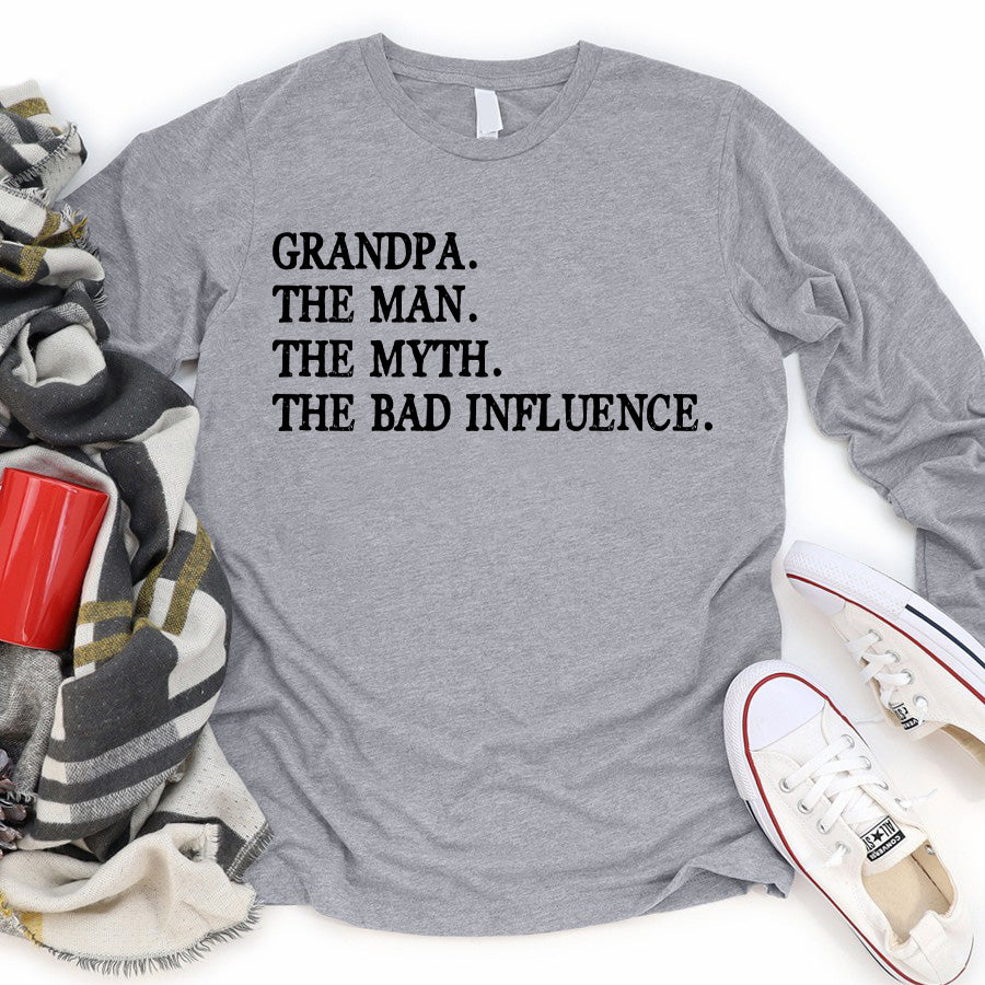 The Man The Myth The Bad Influence Personalized T-shirt APGP007