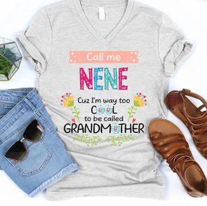 Call me Mimi cuz I'm way too cool to be called Grandmother T-shirt - APGM019
