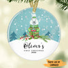 Cute Polar Bear - Baby's First Christmas Personalized Ornament ONFM002