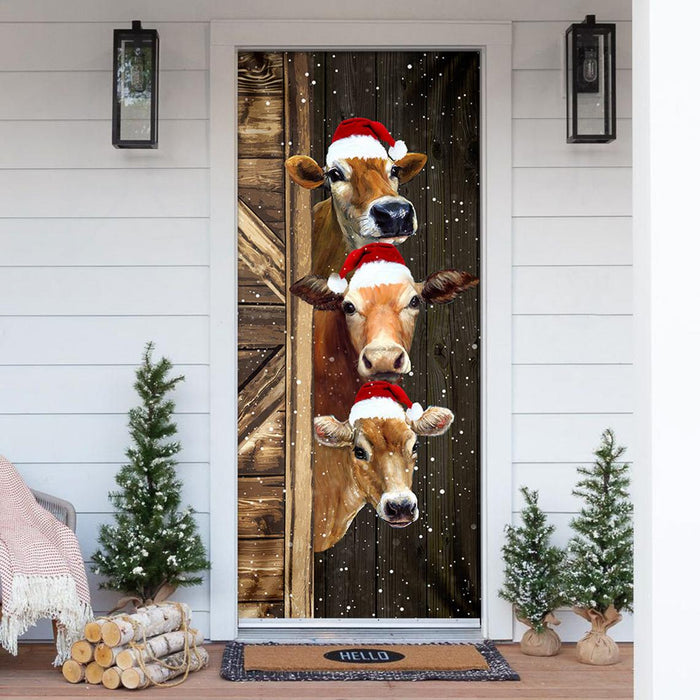 3 Christmas Cows - Door Cover - DC001
