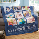 These are a few of my favorite things Personalized photos blanket BLGM006