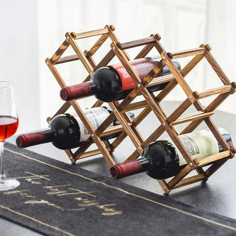 Foldable Wood Wine Rack