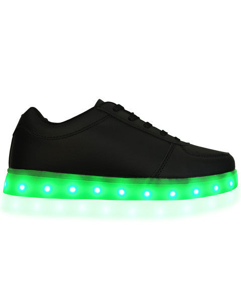 LED Shoes - All Black - Electric Styles | World's Number 1 Light Up Shoe Store - {product_type}} - Black / Men's 6.5 - 1