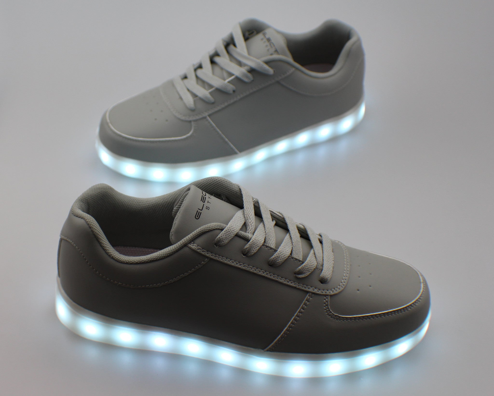 Light Up Shoes - Stone Grey - Electric Styles | World's Number 1 Light Up Shoe Store - {product_type}} -  - 10