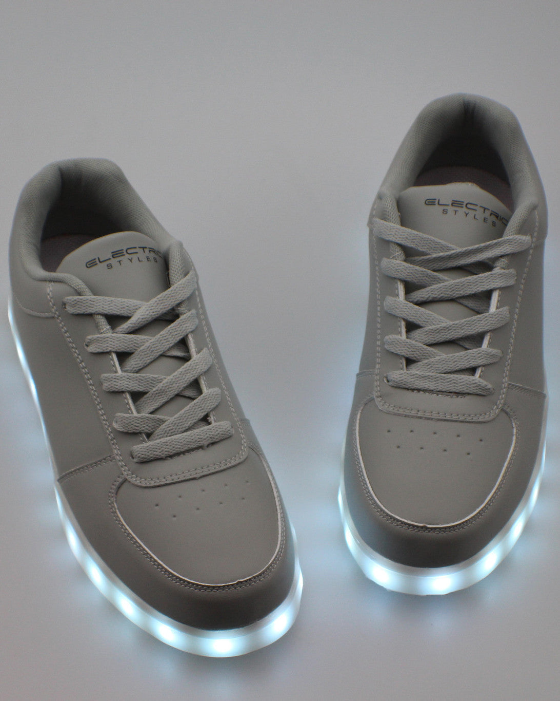 Light Up Shoes - Stone Grey - Electric Styles | World's Number 1 Light Up Shoe Store - {product_type}} -  - 9