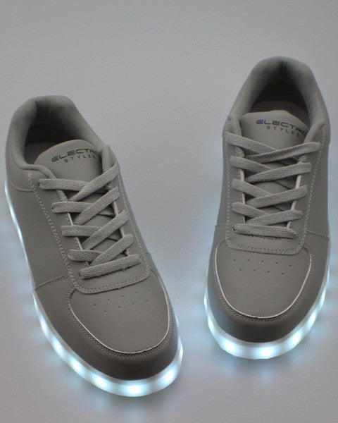 LED Shoes - All Black - Electric Styles | World's Number 1 Light Up Shoe Store - {product_type}} - Grey / Men's 6 - 8