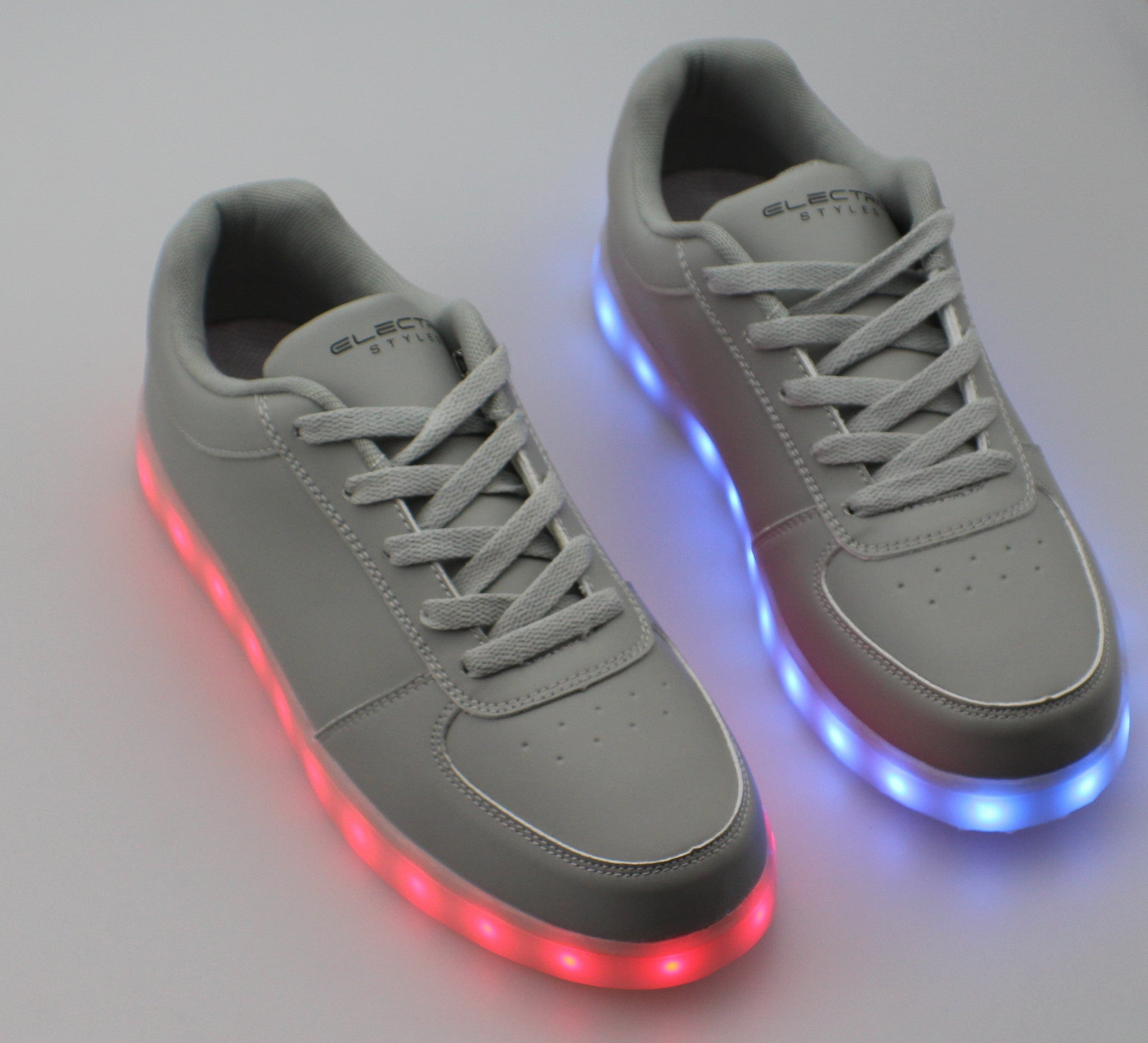 Light Up Shoes - Stone Grey - Electric Styles | World's Number 1 Light Up Shoe Store - {product_type}} - Grey / Men's / Size 12 - 2