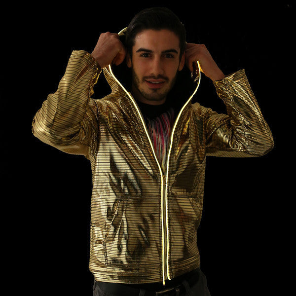 Light Up Electro Hoodie - Gold - Electric Styles | World's Number 1 Light Up Shoe Store - {product_type}} - Small / Gold - 2