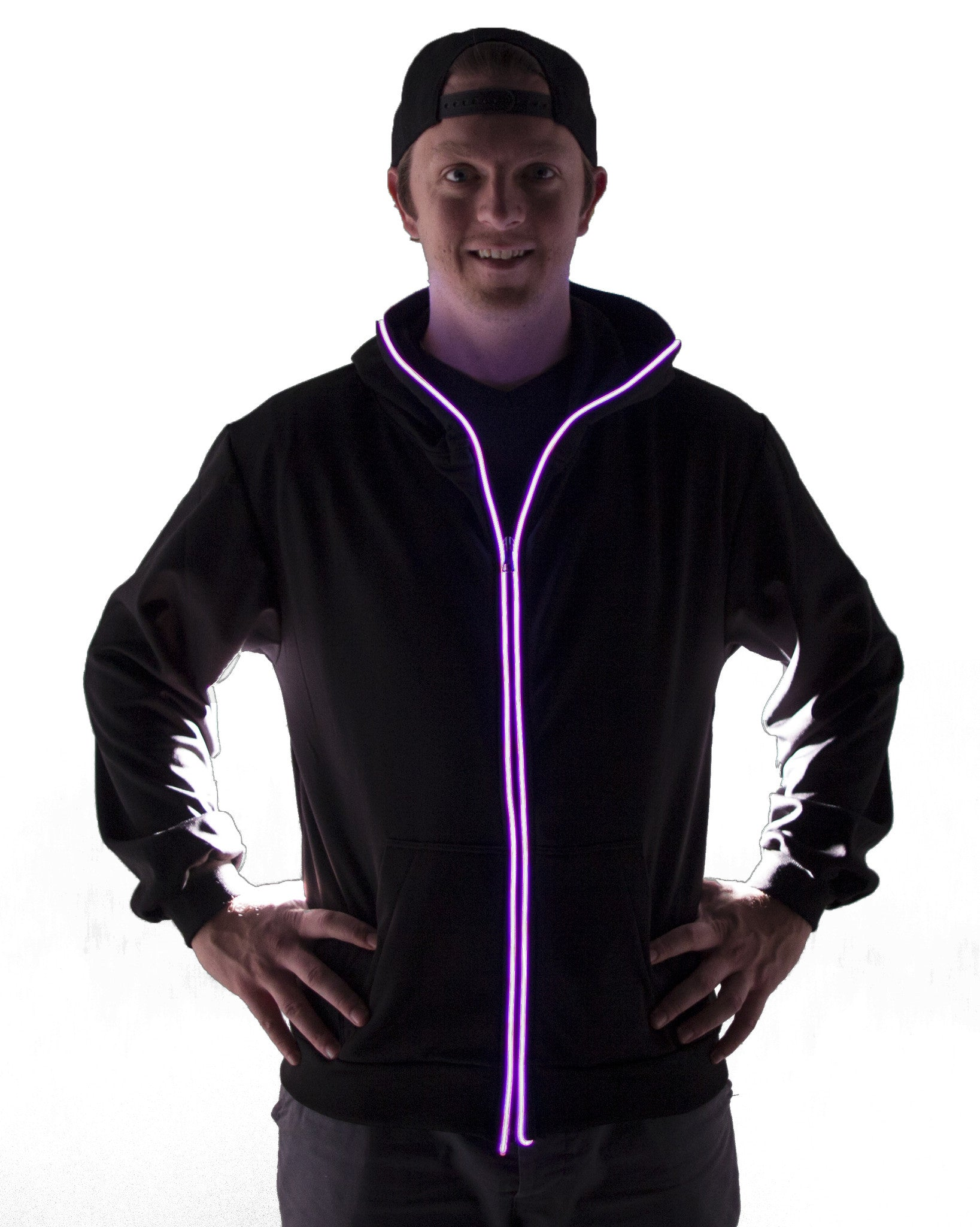 Light Up Hoodie - Pink - Electric Styles | World's Number 1 Light Up Shoe Store - {product_type}} -  - 3
