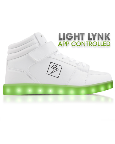 High Top Bolt - Light Lynk Shoes ( White )
