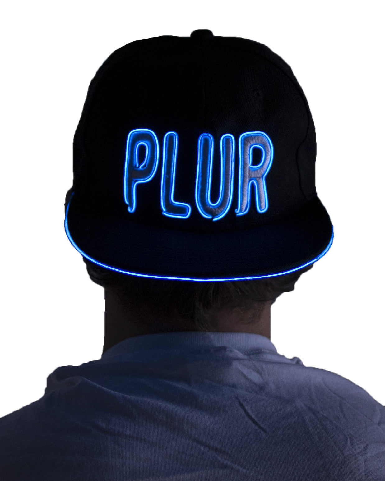Women's Light Up Hat - PLUR - Electric Styles | World's Number 1 Light Up Shoe Store - {product_type}} - Blue - 4