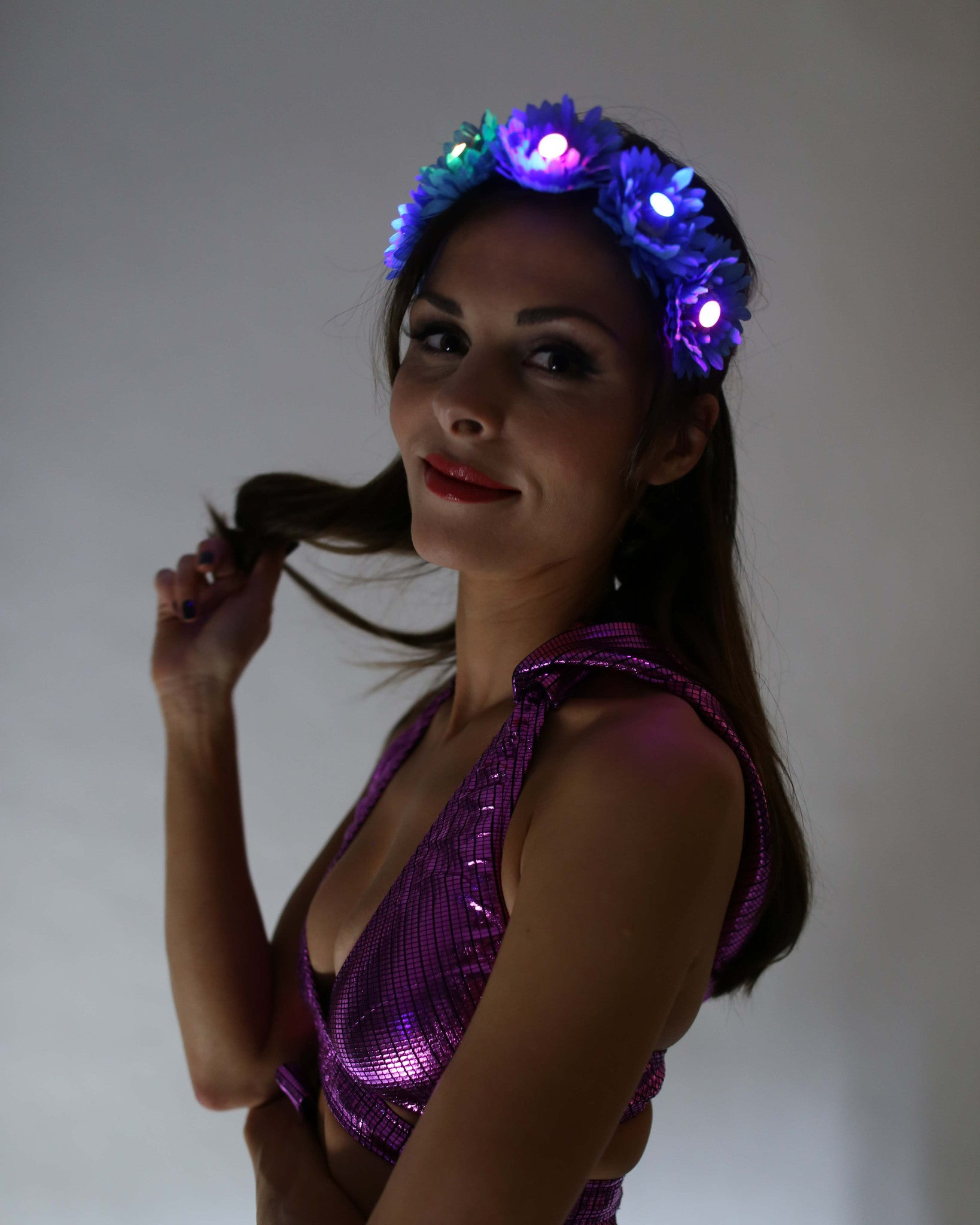 Light Up LED Flower Crown - Electric Styles | World's Number 1 Light Up Shoe Store - {product_type}} -  - 4