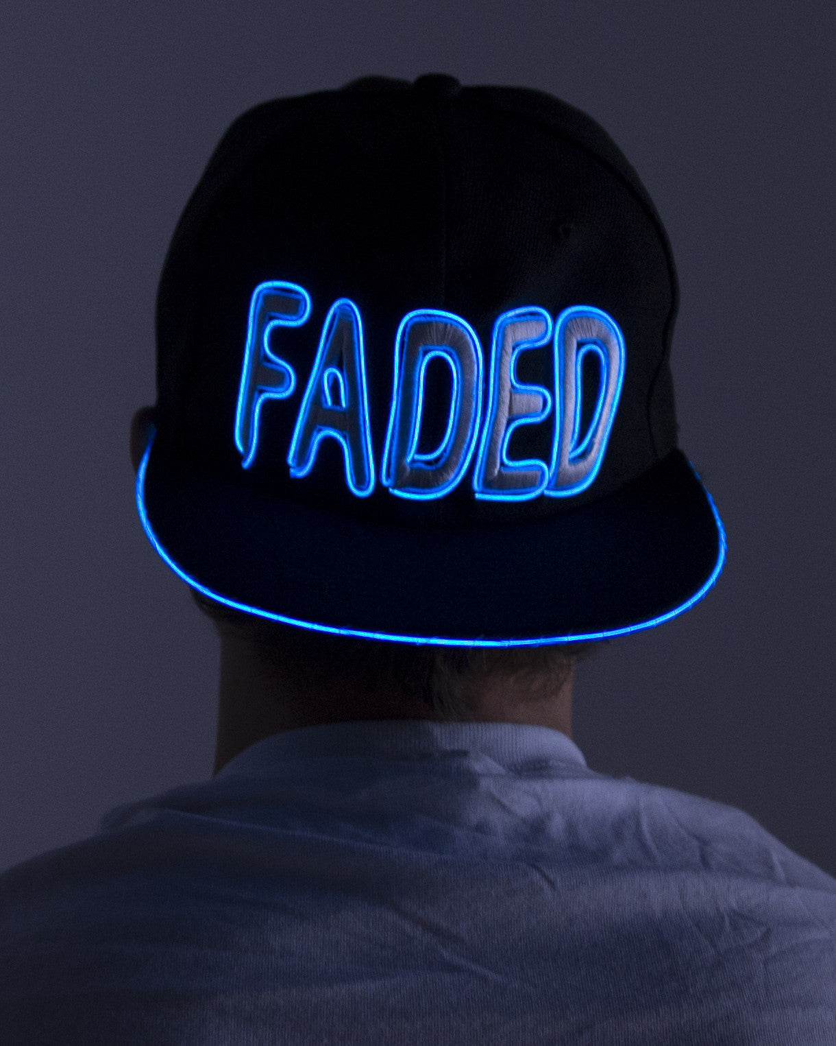 Light Up Hat - Faded - Electric Styles | World's Number 1 Light Up Shoe Store - {product_type}} - Blue - 5