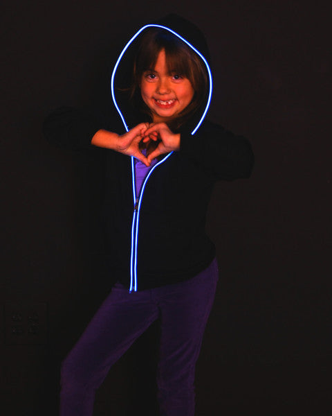 Blue Kids light up hoodie from Electric Styles
