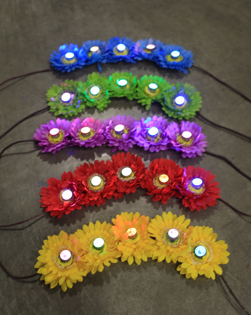 Light Up LED Flower Crown - Electric Styles | World's Number 1 Light Up Shoe Store - {product_type}} - Blue Flowers - 8