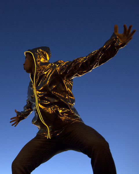 Light Up Electro Hoodie - Gold - Electric Styles | World's Number 1 Light Up Shoe Store - {product_type}} -  - 1
