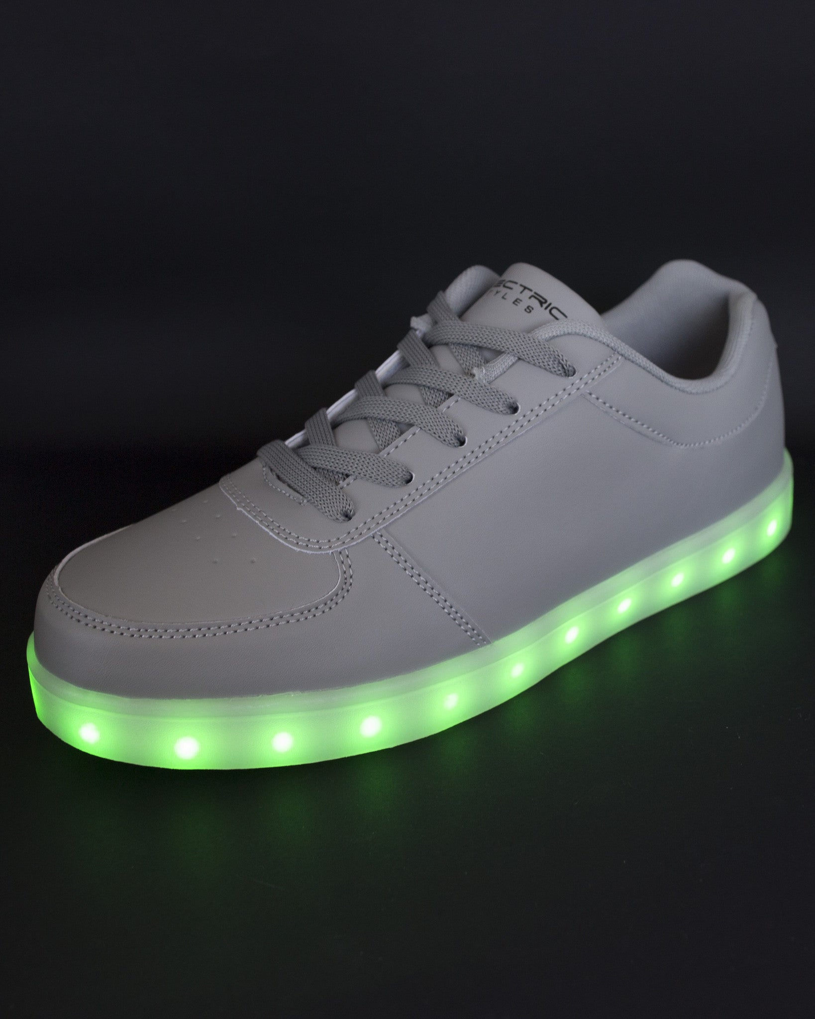 Light Up Shoes - Stone Grey - Electric Styles | World's Number 1 Light Up Shoe Store - {product_type}} -  - 8