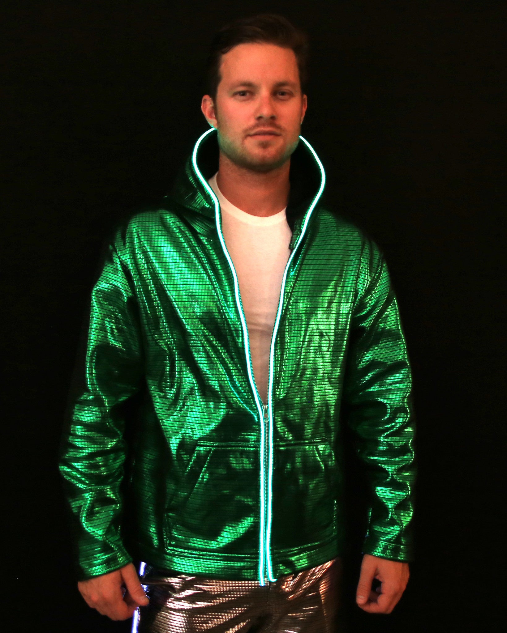Light Up Electro Hoodie - Electric Styles | World's Number 1 Light Up Shoe Store - {product_type}} - Small / Green - 6