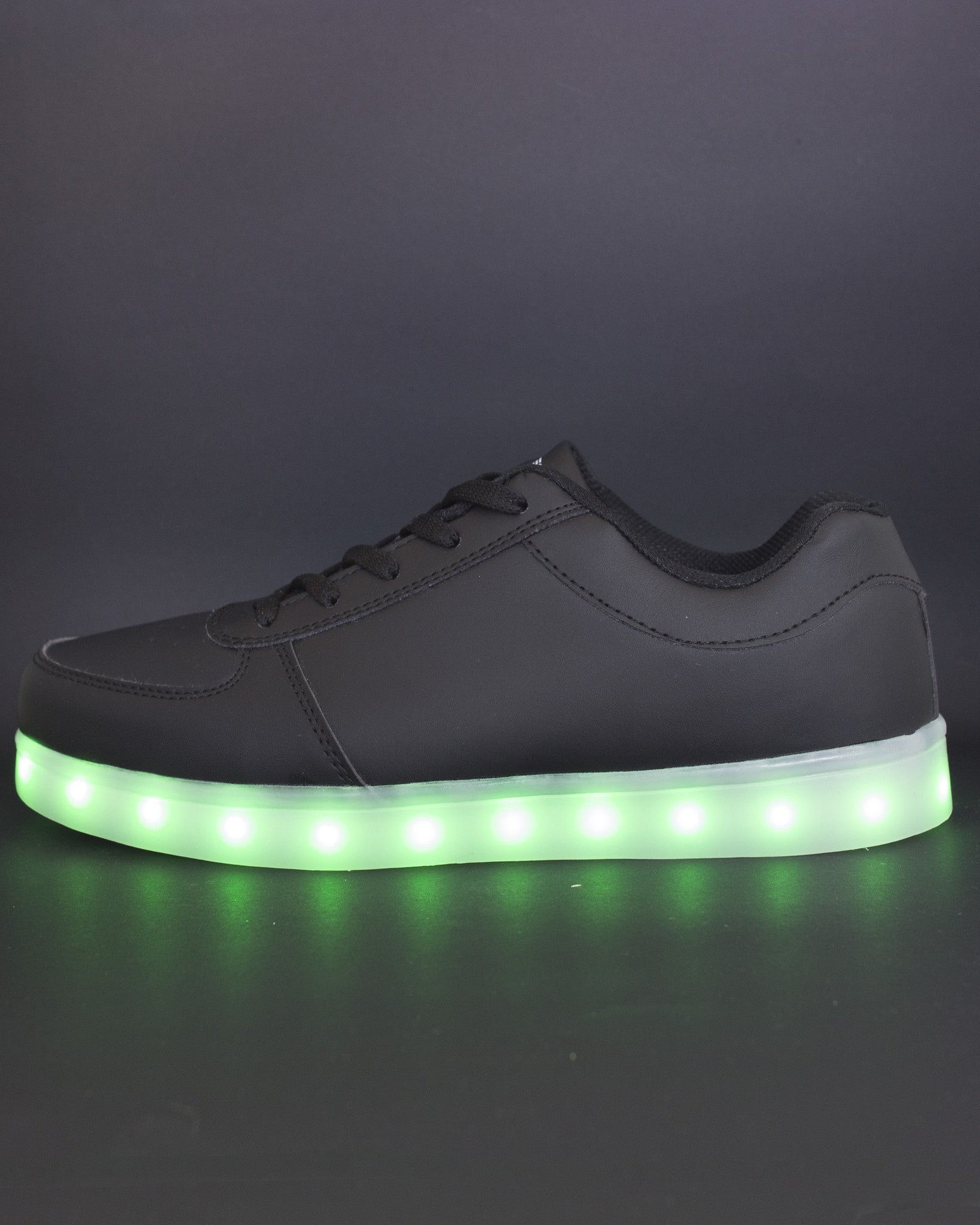 Light Up Shoes - All Black - Electric Styles | World's Number 1 Light Up Shoe Store - {product_type}} -  - 8