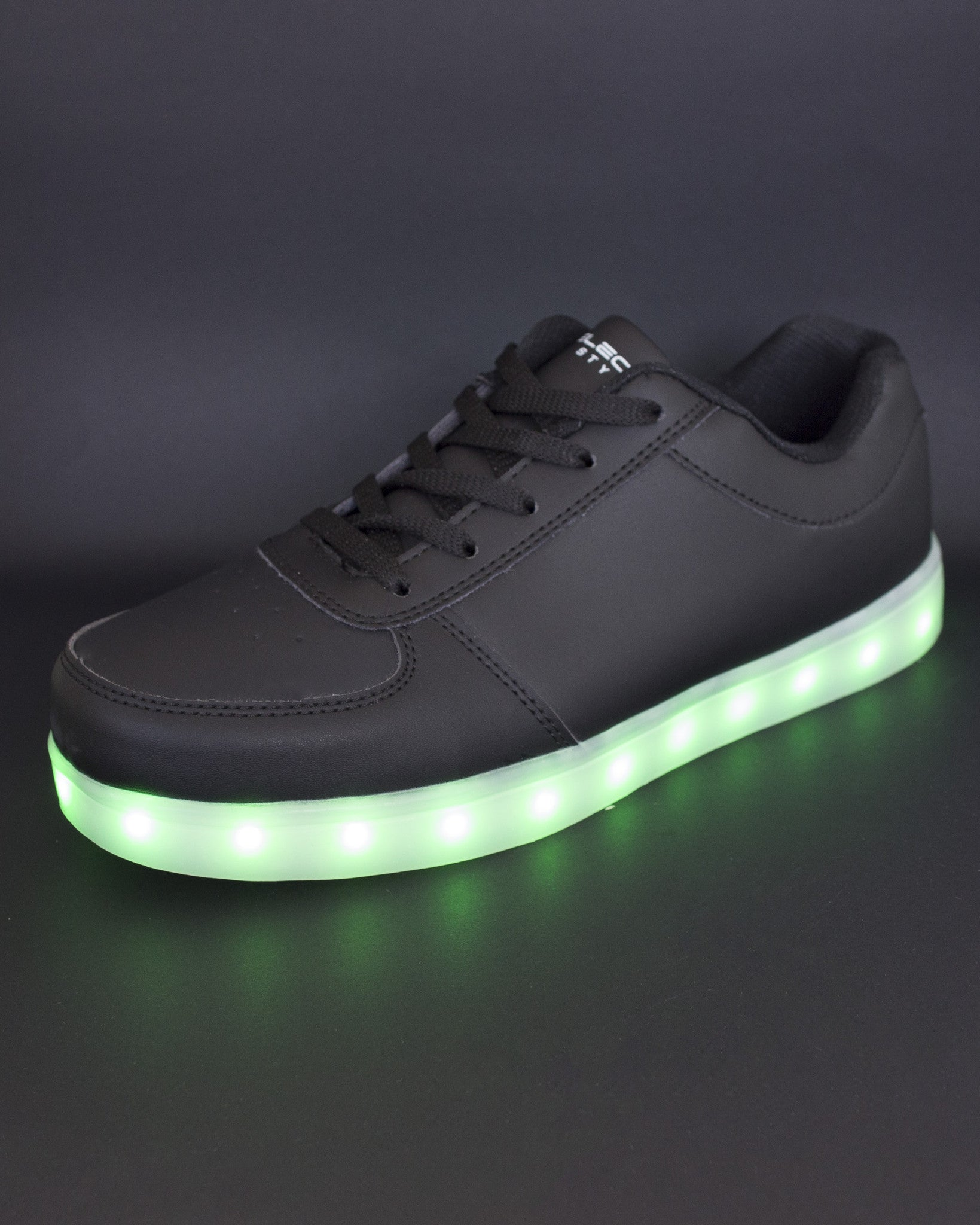 Light Up Shoes - All Black - Electric Styles | World's Number 1 Light Up Shoe Store - {product_type}} -  - 3