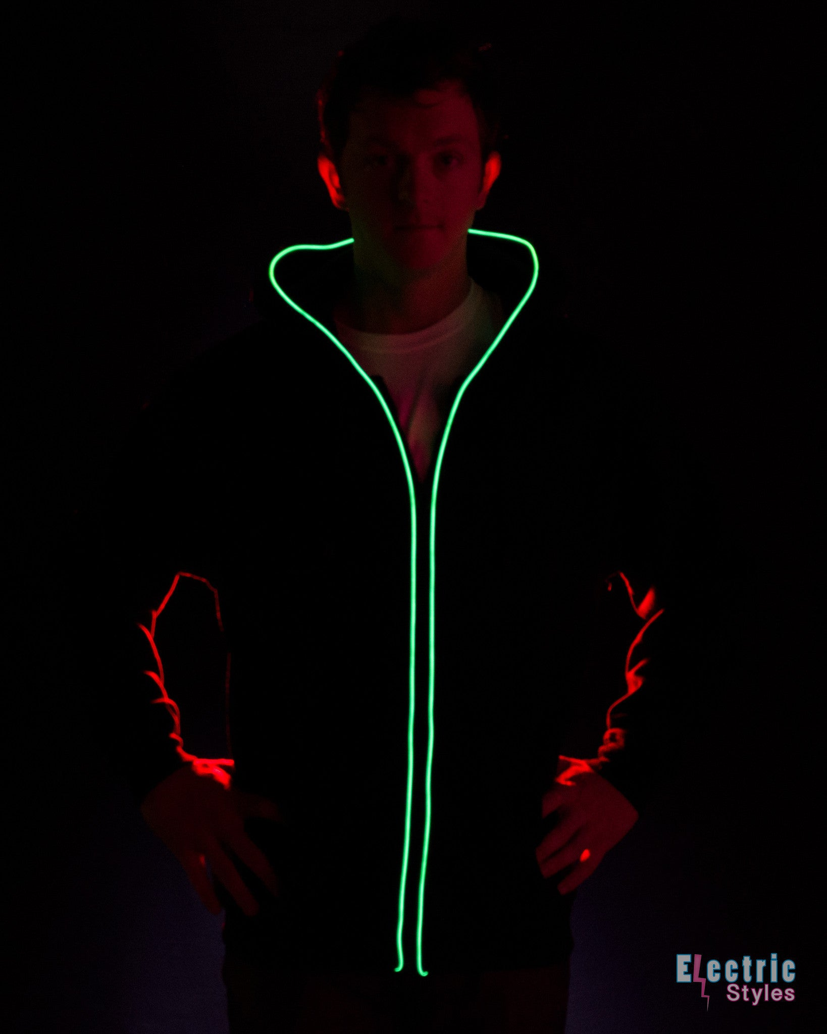 Light Up Hoodie by Electric Styles