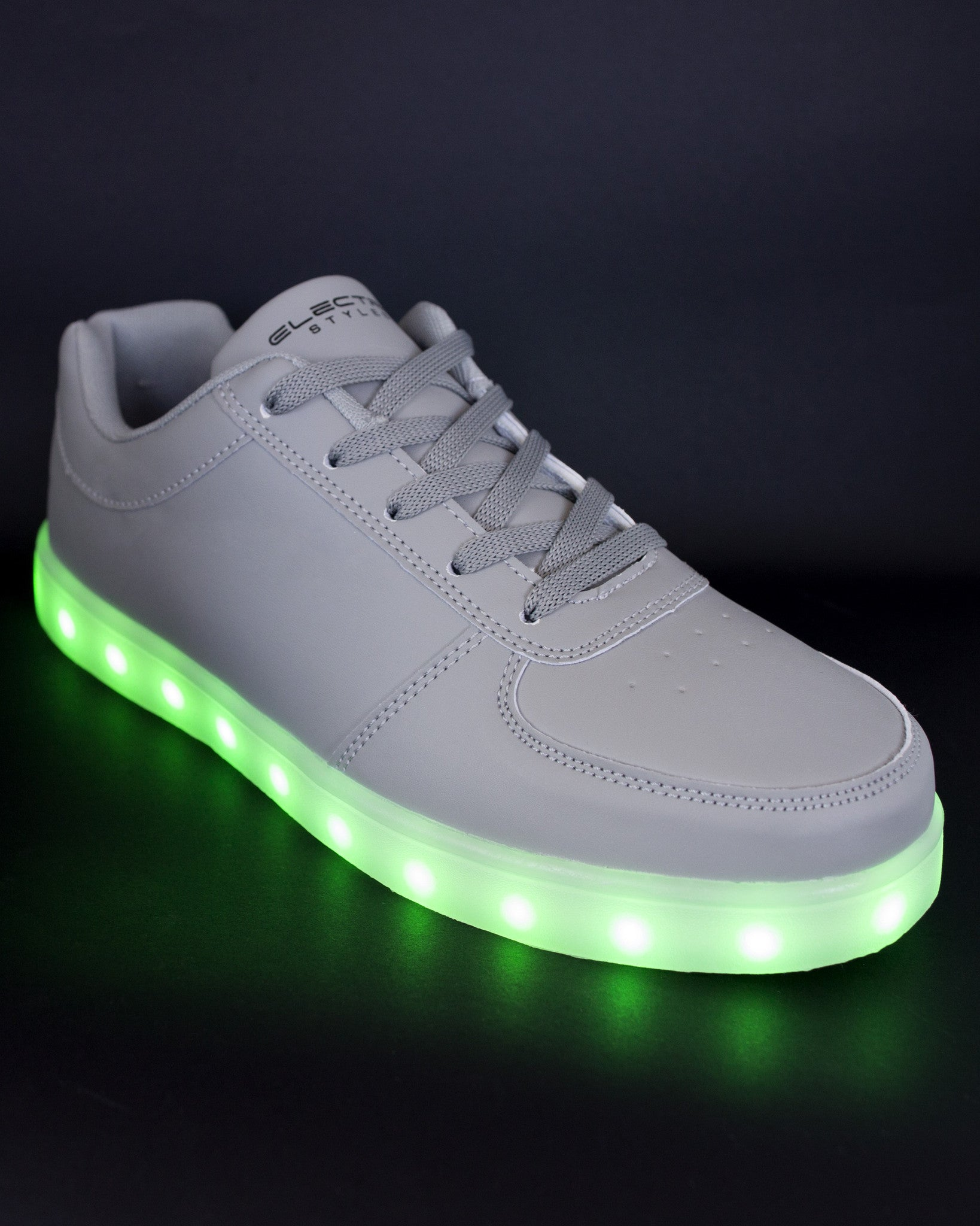 Light Up Shoes - Stone Grey - Electric Styles | World's Number 1 Light Up Shoe Store - {product_type}} -  - 1