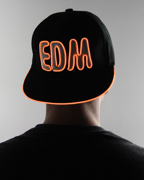 Light Up Hat - EDM - Electric Styles | World's Number 1 Light Up Shoe Store - {product_type}} - Orange - 5