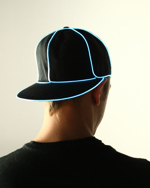 Light Up Snapback Hat - Electric Styles | World's Number 1 Light Up Shoe Store - {product_type}} - Aqua - 1