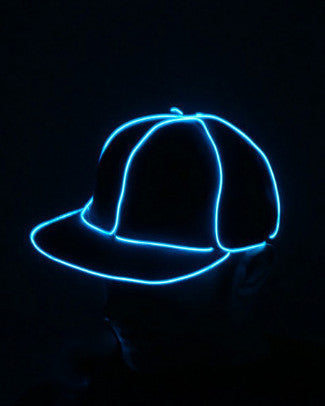 Light Up Snapback Hat - Electric Styles | World's Number 1 Light Up Shoe Store - {product_type}} - White - 5