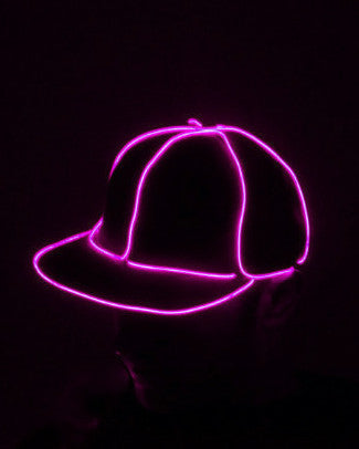 Light Up Snapback Hat - Electric Styles | World's Number 1 Light Up Shoe Store - {product_type}} - Pink - 3