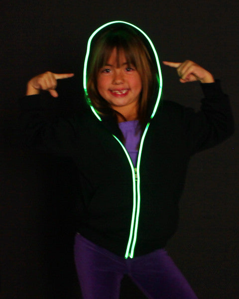 Green Youth Sized Light Up Hoodie