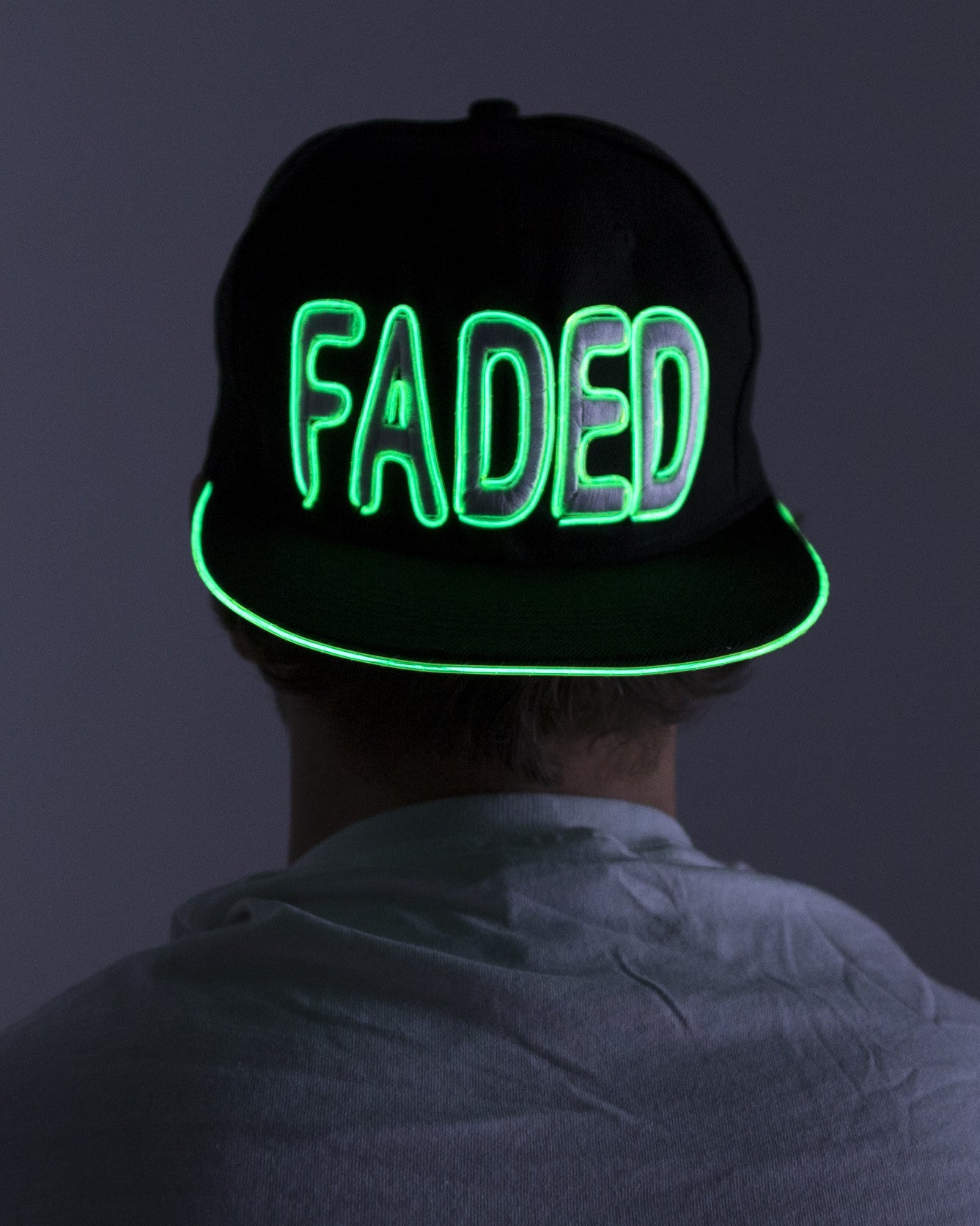 Light Up Hat - Faded - Electric Styles | World's Number 1 Light Up Shoe Store - {product_type}} - Green - 1