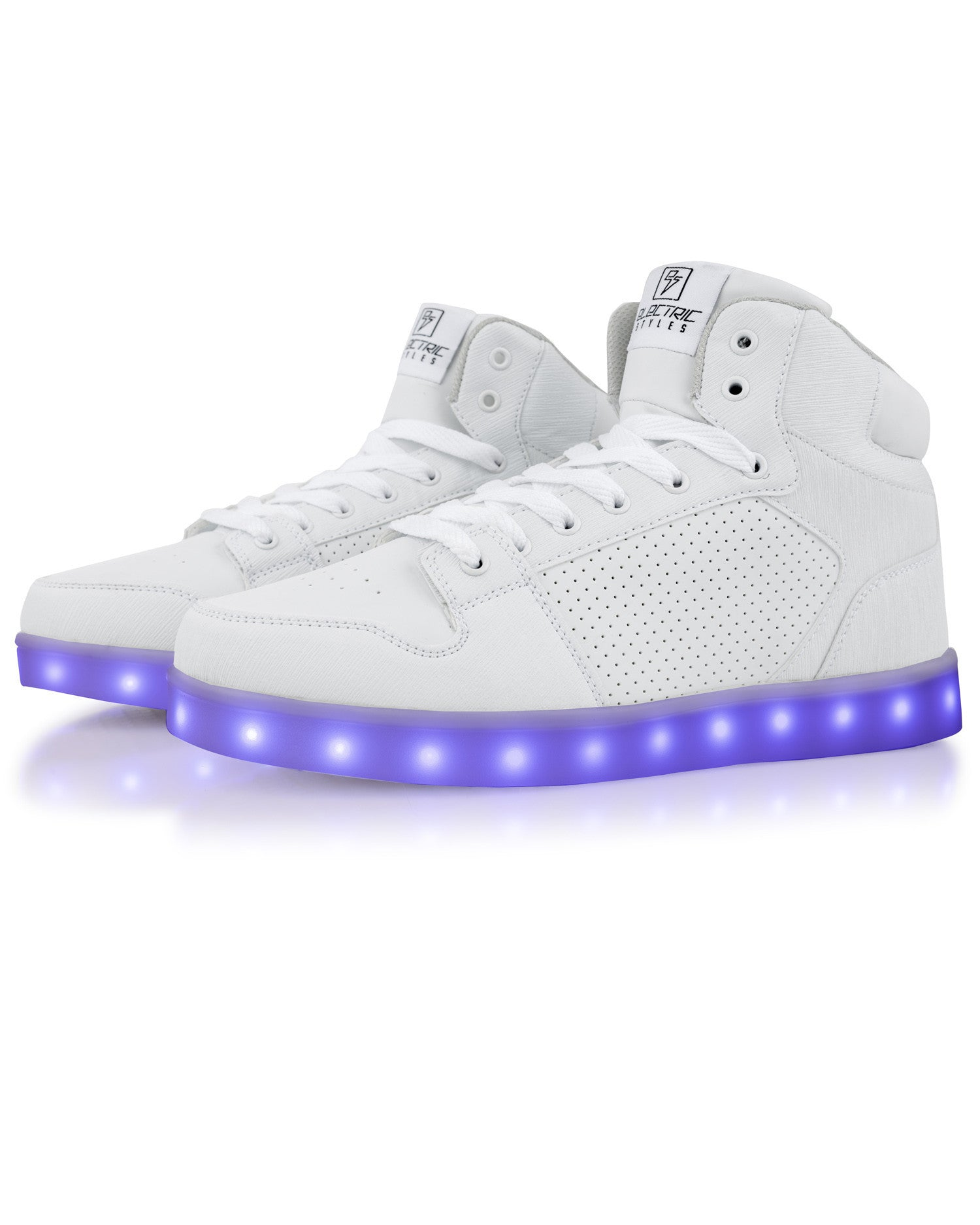 J-Walker - Light Lynk Shoes ( White Leather ) - Electric Styles | World's Number 1 Light Up Shoe Store - {product_type}} -  - 4