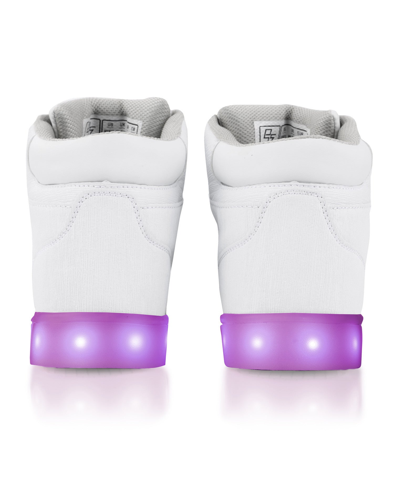J-Walker - Light Lynk Shoes ( White Leather ) - Electric Styles | World's Number 1 Light Up Shoe Store - {product_type}} -  - 5