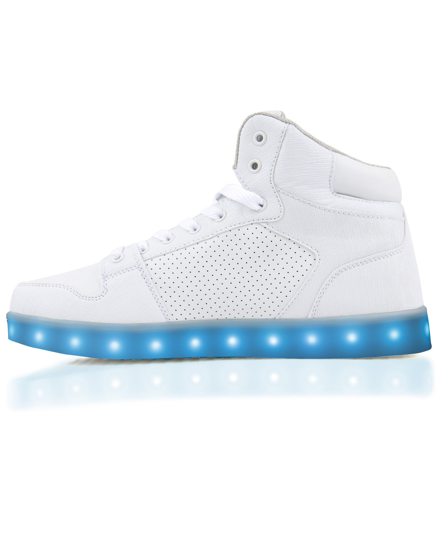 J-Walker - Light Lynk Shoes ( White Leather ) - Electric Styles | World's Number 1 Light Up Shoe Store - {product_type}} -  - 7