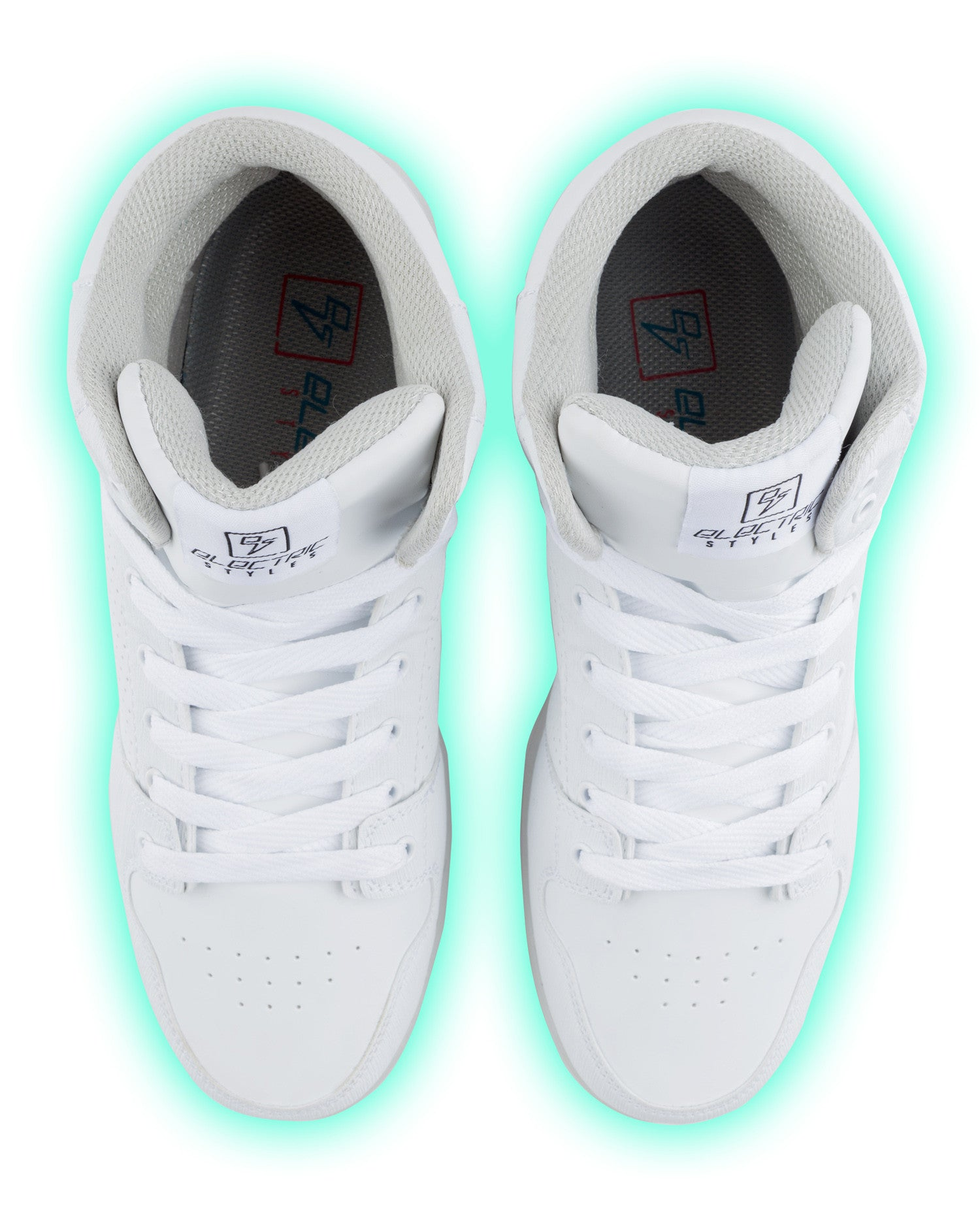 J-Walker - Light Lynk Shoes ( White Leather ) - Electric Styles | World's Number 1 Light Up Shoe Store - {product_type}} -  - 2