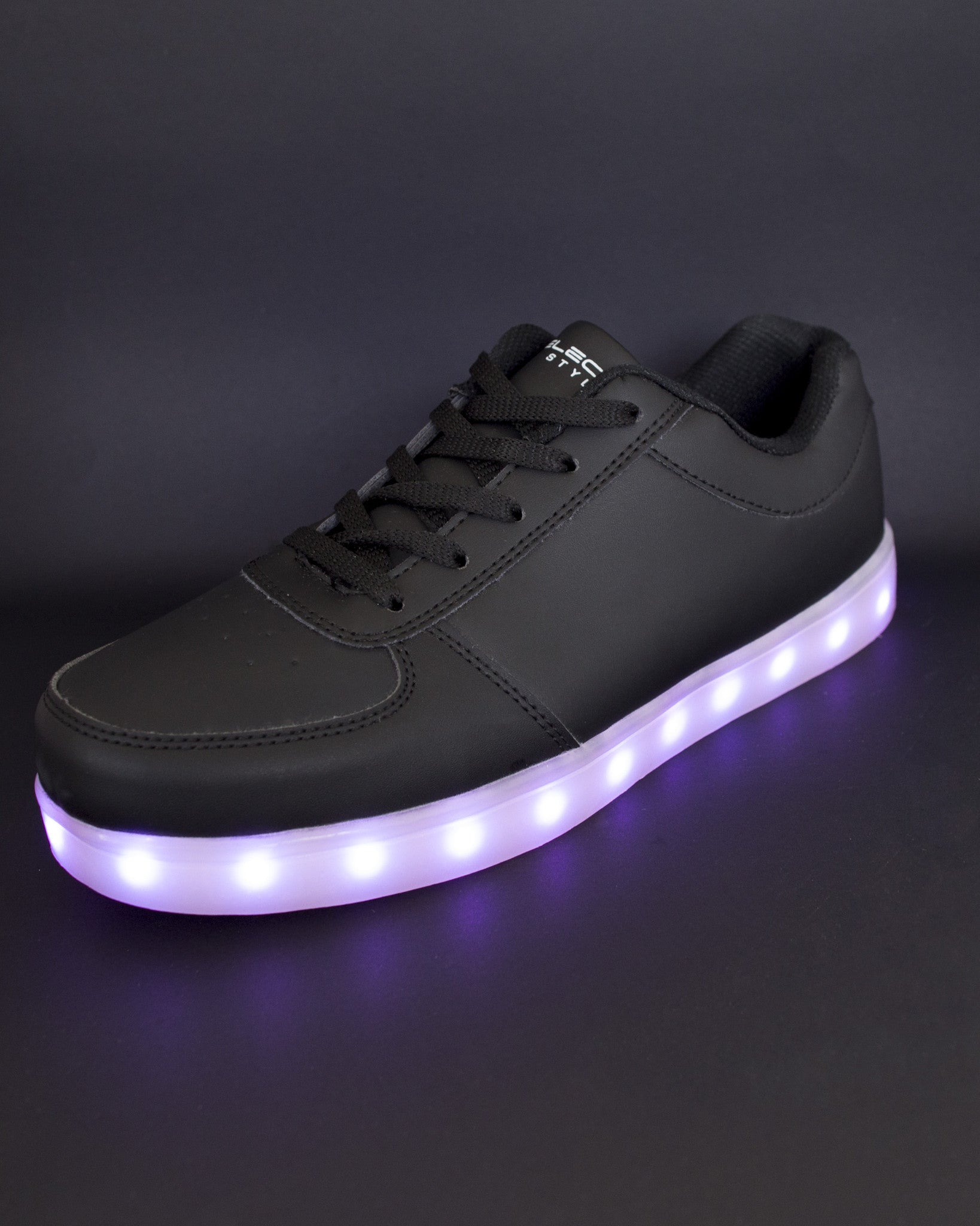 Light Up Shoes - All Black - Electric Styles | World's Number 1 Light Up Shoe Store - {product_type}} -  - 2