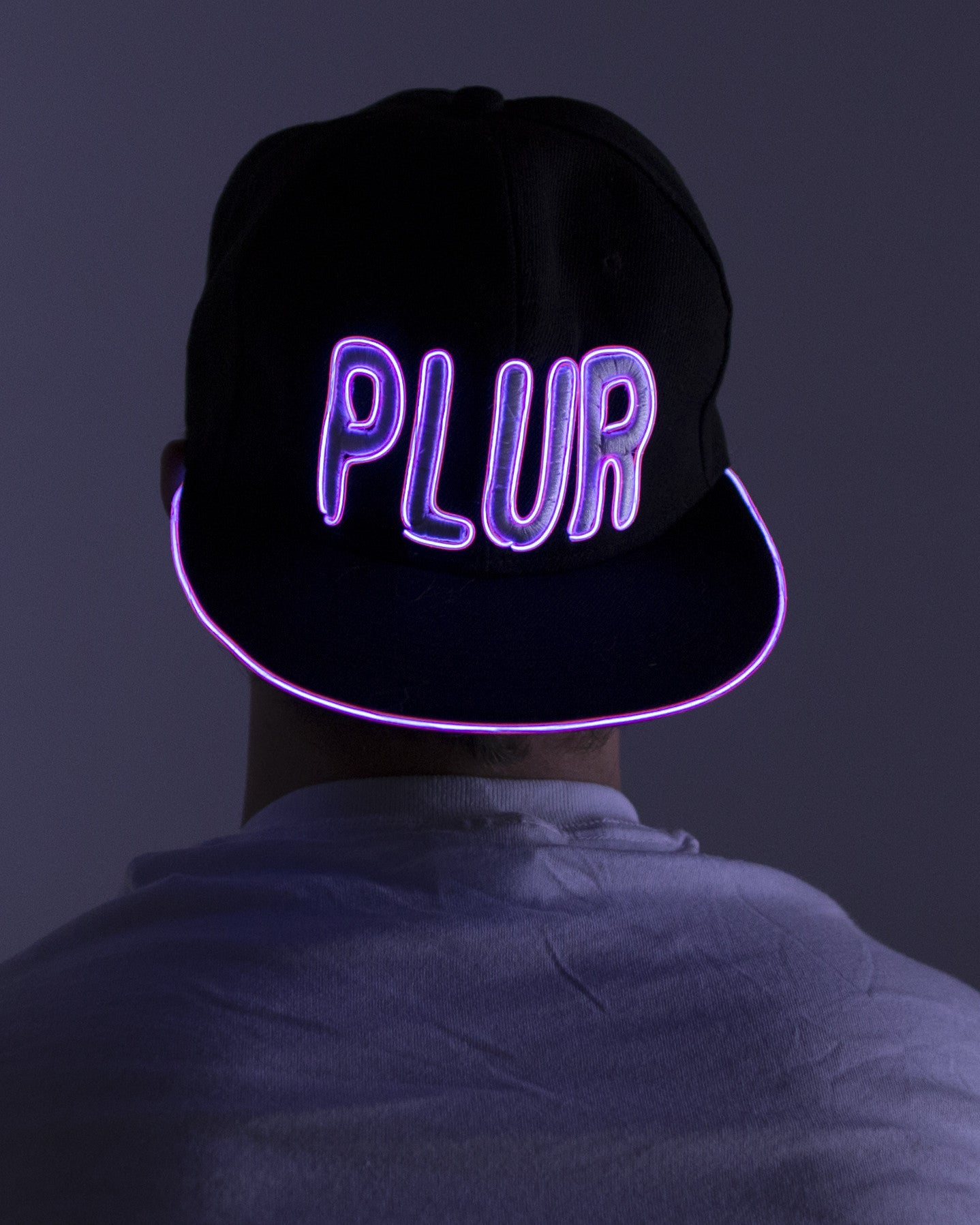 Women's Light Up Hat - PLUR - Electric Styles | World's Number 1 Light Up Shoe Store - {product_type}} - Pink - 2