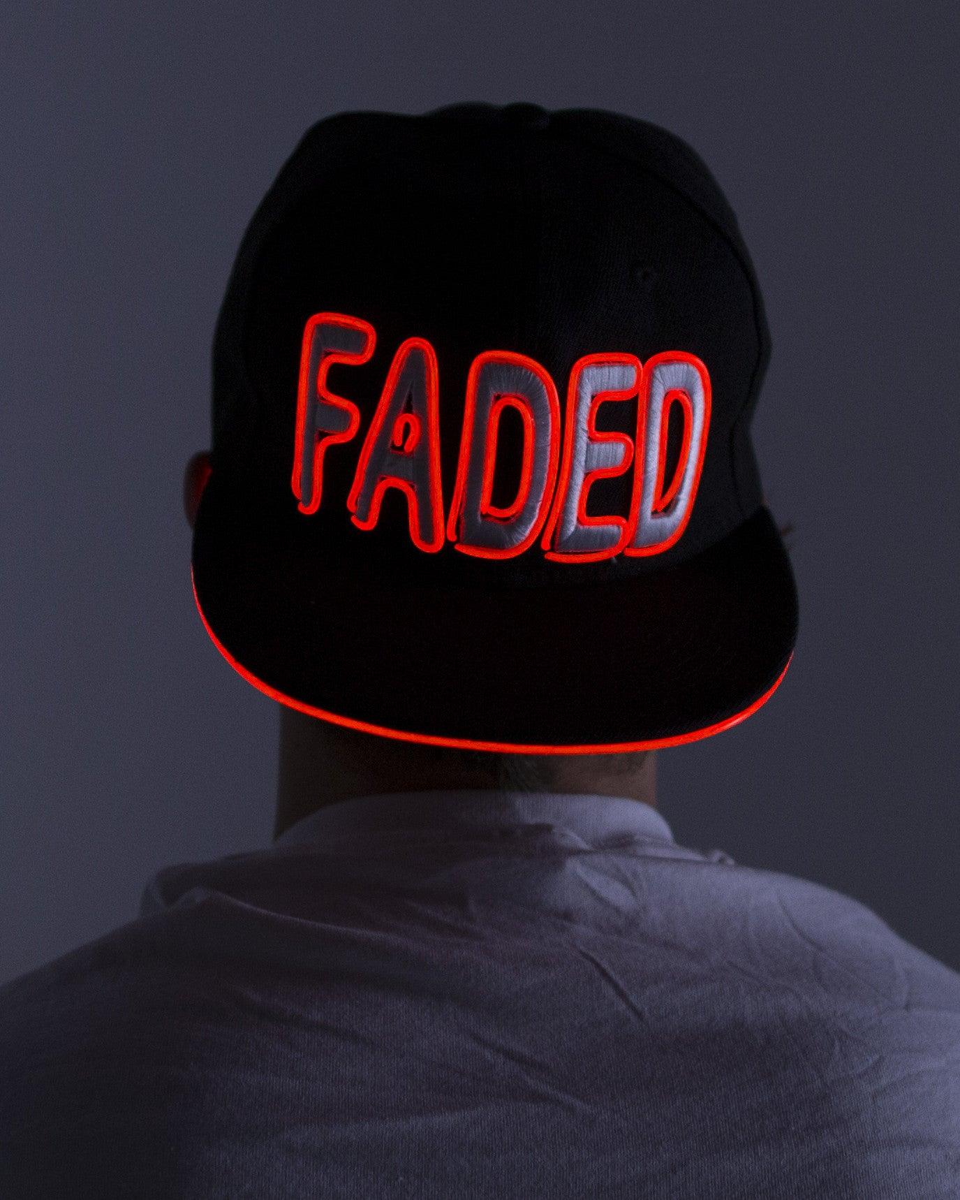 Light Up Hat - Faded - Electric Styles | World's Number 1 Light Up Shoe Store - {product_type}} - Red - 4