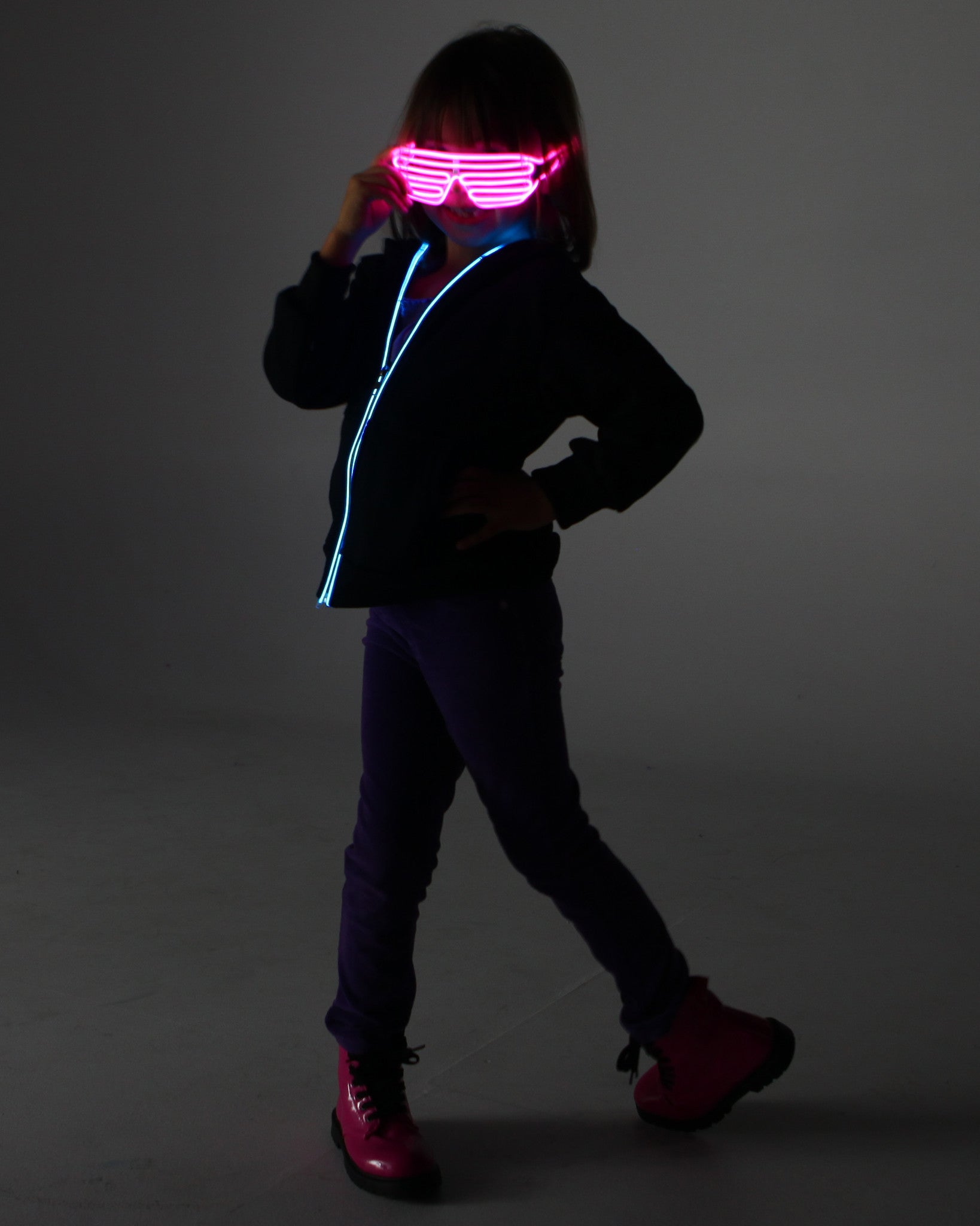 Light Up Shutter Glasses - Electric Styles | World's Number 1 Light Up Shoe Store - {product_type}} - Pink - 6