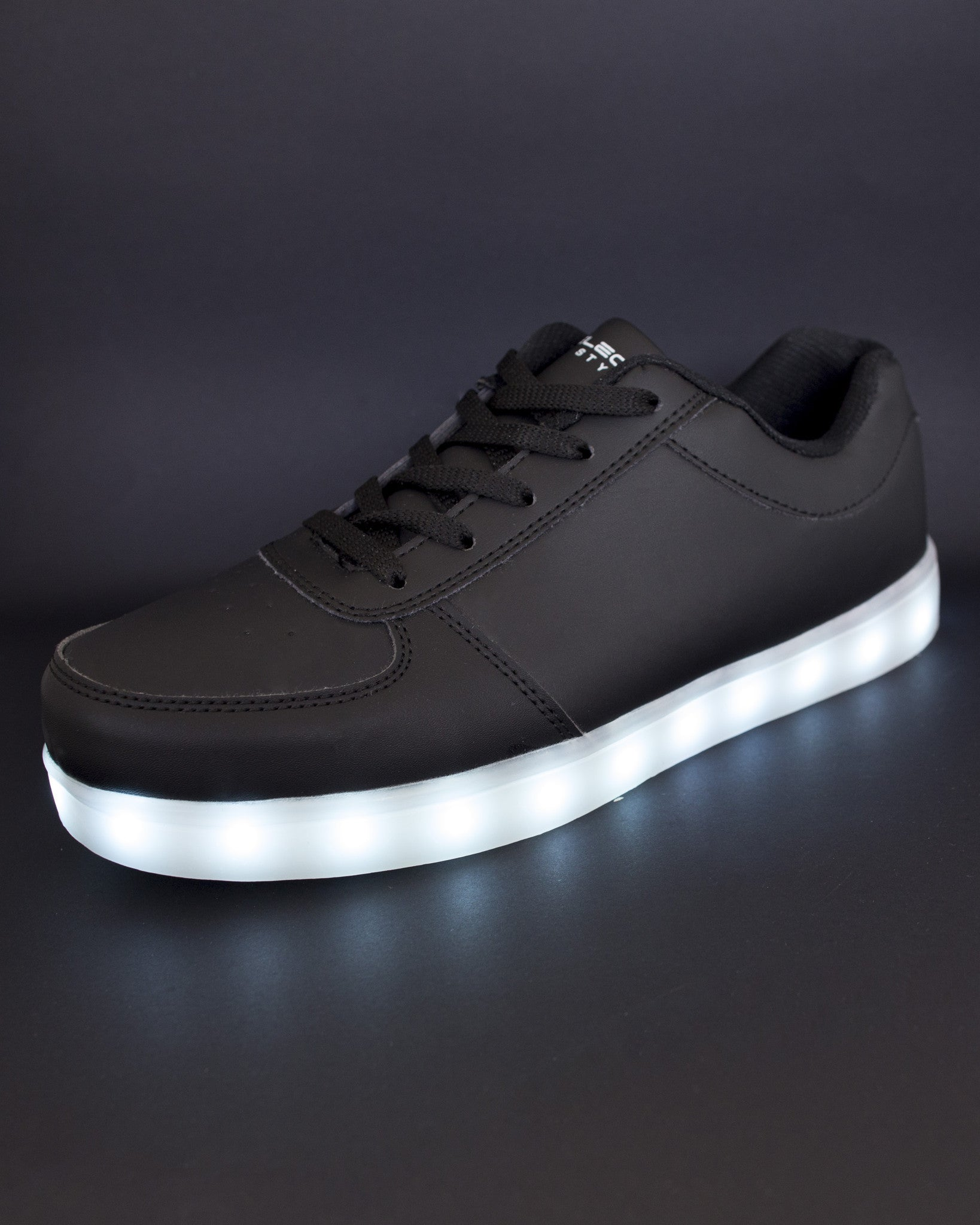 Light Up Shoes - All Black - Electric Styles | World's Number 1 Light Up Shoe Store - {product_type}} -  - 9
