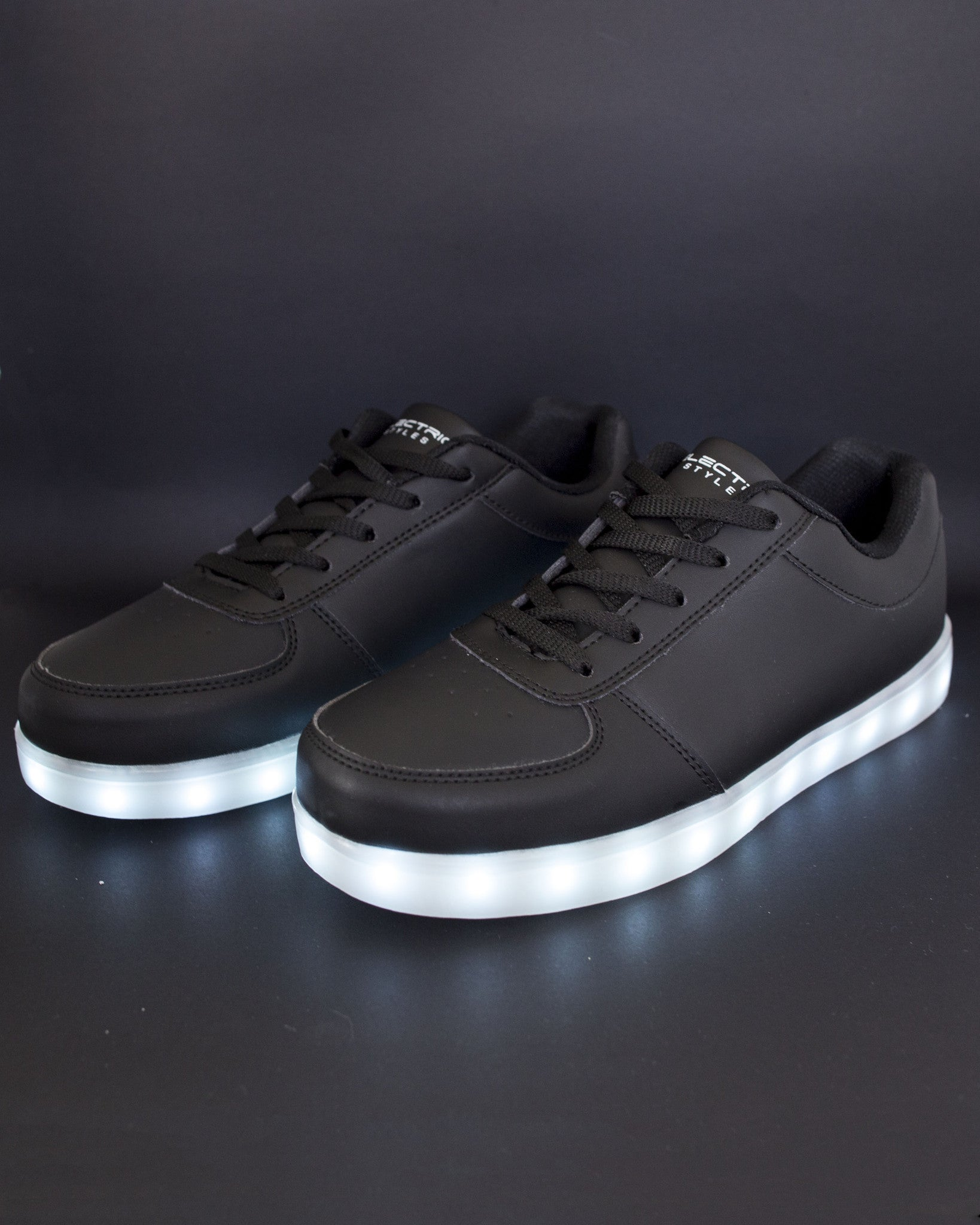 Light Up Shoes - All Black - Electric Styles | World's Number 1 Light Up Shoe Store - {product_type}} - Black / Men's 6 - 1