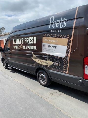Peet's coffees are never warehoused or send to a third party for delivery.